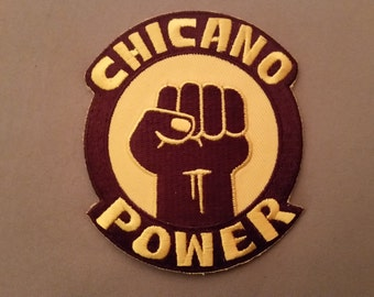 chicano power embroidered patch