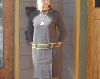 60's Wool Drop Waist Dress