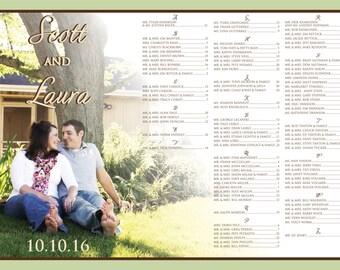 Laura & Scott Photo Reception Seating Chart Board