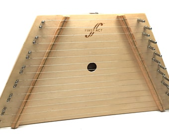 Lap Harp, First Act Brand, Music Cards, Instrument, Instructional, Stringed Instrument, 15 String