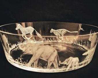 Safari, Big 5, Centerpiece, Elephant, Rhino, Zebra, Lion, Cheetah, Bowl
