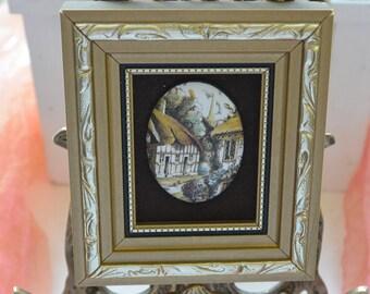 Pat Collins Painting - Enamel on Copper, Vitreous Enameling, London - Vintage- Stunning!