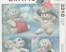 """McCall's Crafts 3310 Dreamsicles 9"""" Angel Hugs Holiday Dolls Sewing Pattern 2001 Uncut"""