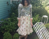 Coffee Cowgirl Dress Upcycled Whimsical Enchanting reserve for Lala~