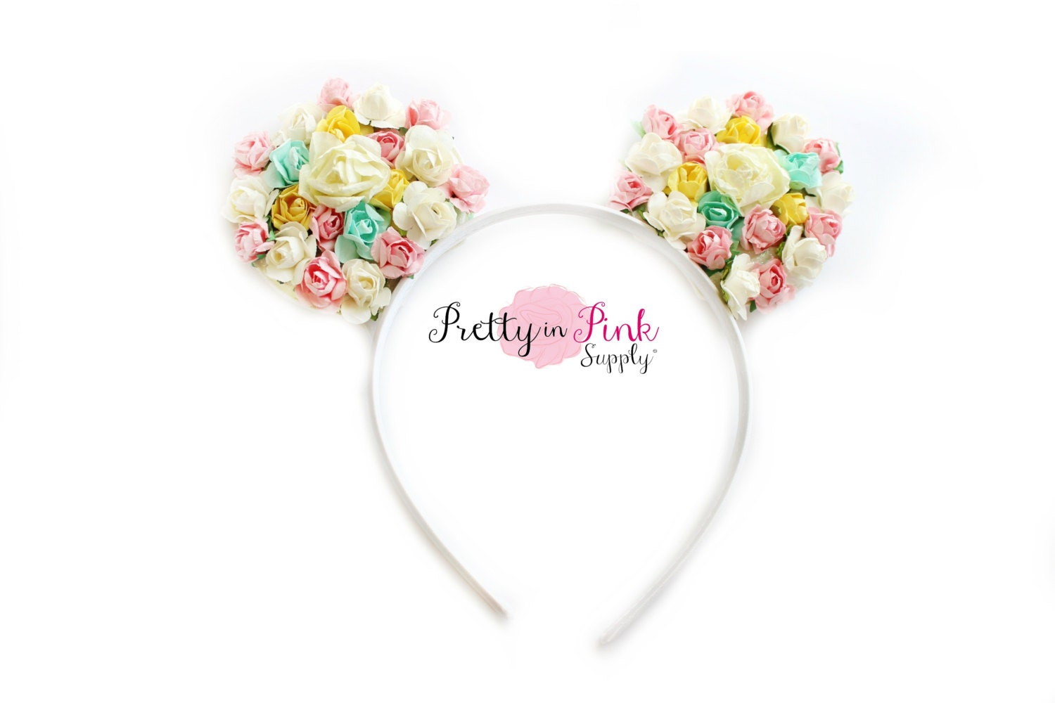 floral disney minnie mouse diy ear kit 269 by prettyinpinksupply
