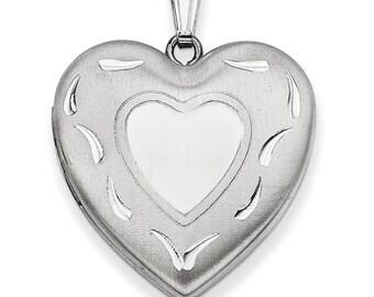Sterling Silver 24mm D/C Heart Locket