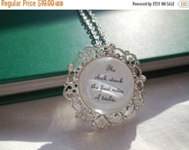 """End of Summer Sale Cinderella Necklace- """"First Notes of Twelve"""" Book Page Jewelry"""