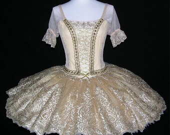 Ballet Tutu - Professional golden color ballet tutu