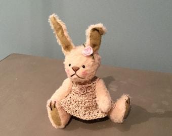 April - One of a Kind Miniature Artist Bear (Bunny)