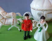 CINDERELLA PRINCE CHARMING Carriage retro look Cake Topper includes cupcake pick birthday vintage decorating princess wedding bridal shower