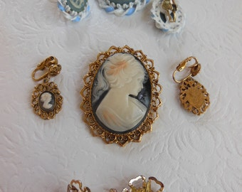 Vintage Cameo Combo Package / Set of Three