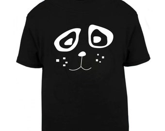 Panda kids tee,  hipster animal t shirt, funky children shirt, present for kid, boy girl gift