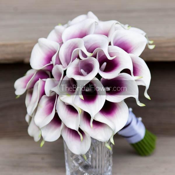 Purple Lily Bridal Bouquet : Calla lily wedding bouquet light purple bridal by