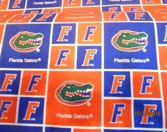University of Florida Block FABRIC Sold by the YARD GATORS new