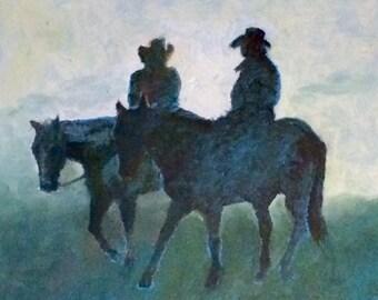 Horses/ Early Morning Mist