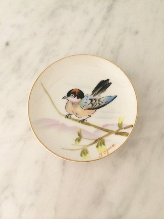 Decorative Wall Plates Birds : Asian bird plate wall decor small
