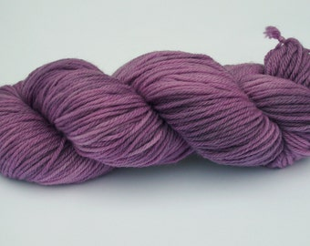 Hand dyed yarn  Double knit  100% Superwash Merino - Dusty pink