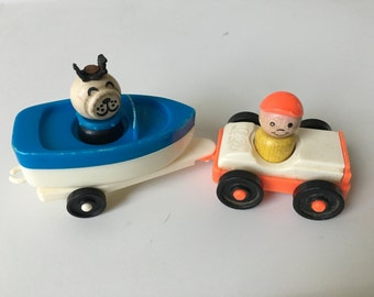 Fisher Price Car and Boat Set #685