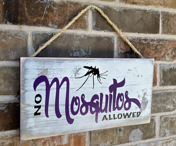 Porch Patio Deck Fun Wood Sign No Mosquitos Allowed Great Gift