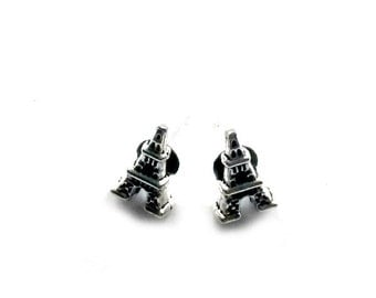 Eiffel Tower Stud Earrings Paris Post earrings Handmade Gift