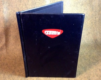 Vintage Tom's Note Pad Cover or Binder - Holds 8 1/2 x 11 inch padded paper pads.