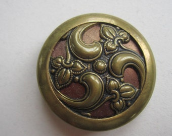 Late 19th Century Large Stamp Tinted Cut out Brass button