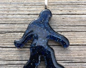 Sasquatch (Bigfoot) Pendant - Fused Glass