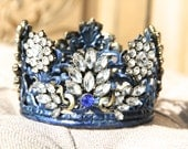 Embellished Metal crown, crown decor, french decor, Mediterranea Design Studio, metal tiara, wedding, rustic crown, crown, cake topper