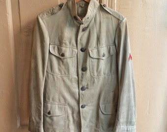 Vintage 1910s M-1912 US Army Cotton Twill Tunic w/ Discharge Stripe. Size 36/37 2019
