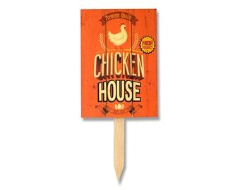 11x15 Chicken House on Solid Cedar Wood. All Weather Safe Yard Art. (YMPCH)