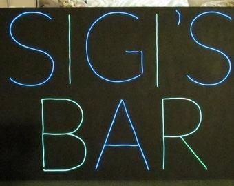 Custom EL Wire Neon Sign- Canvas