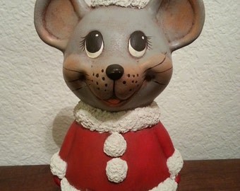 Ceramic Christmas Mouse