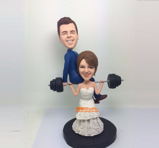 custom cake topper wedding topper bobblehead custom wedding. Black Bedroom Furniture Sets. Home Design Ideas