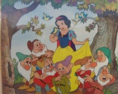 "Disney Snow White and the Seven Dwarves 18"" by 24"" New poster Vintage early 1990's"