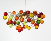 Pendant lighting with warm jumpy bubbles, ceiling ligthing for children room or bedroom.