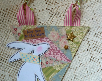 Hare Bunting Flag - Love You To The Stars