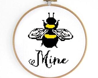 Bee Mine Cross Stitch Pattern