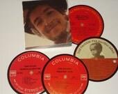 BOB DYLAN Coaster Set vinyl record coasters