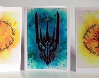 Lord of the Rings Ornamental Greetings Card