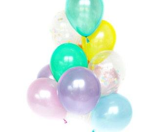 Confetti Balloon Set - Unicorn Rainbow