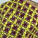 African Wax Print Fabric--Kenyan Wax Print Fabric--Ankara Print Fabric--Lemon Lime with Magenta Curls--African Fabric by the HALF YARD