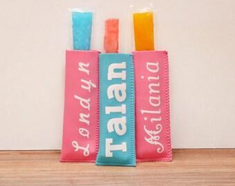 Freeze pop holder,  Popsicle Holder, Popsicle Sleeve, Ice Pop Holder, Personalized Freezer Pop Holder,