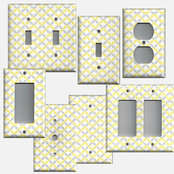 Decorative Wall Light Covers : Light switchplate and wall outlet covers in yellow