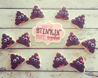 We're Stinkin' Cute Together Valentines Cookie Set