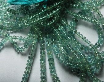 16 Inches SUPERB-FINEST Quality, Blue Aquamarine Smooth Polished Rondells 6.5-4mm