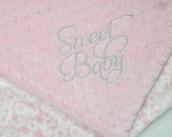READY to SHIP - Super Soft Double Minky Lovey Blanket