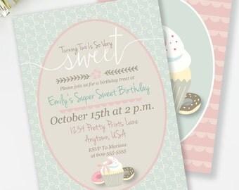 Einladung Zur Geburtstagsfeier Süße Leckereien, Mädchen Geburtstag  Einladen, Geburtstag Tea Party, Geburtstag Brunch