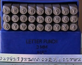 Hello June 3mm Italic Font Alphabet Letter Uppercase Stamp Set - Metal Stamp Set - Metal And Jewelry Making Tool - SGE-5U
