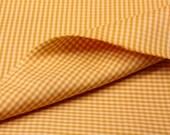 2-7/16 yds Yellow Cotton Gingham Check Woven Fabric, Yardage, Material, Medium Weight Upholstery Fabric, SammieDoos USA