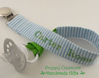 Personalized Pacifier Clip / Baby Pacifier Clip / Baby shower gift